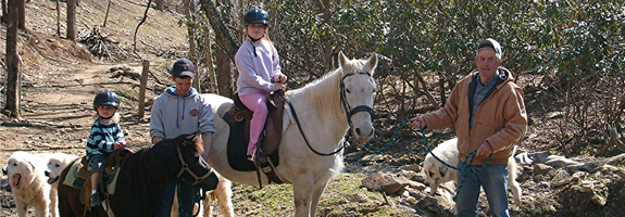 family horseback riding vacations
